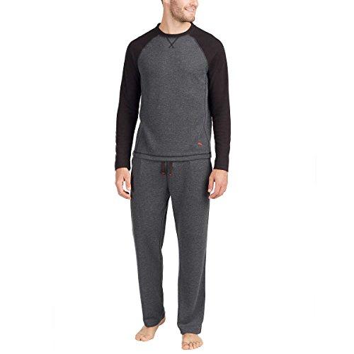 Tommy Bahama Men's Pajama Set, Crew Neck Top and Drawstring Pant (Large, (Mens Pj Set)