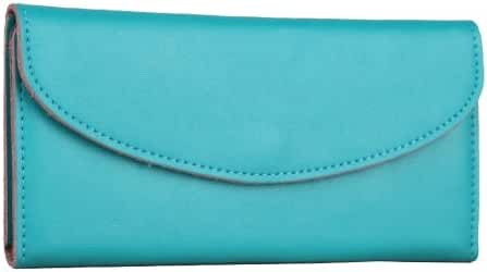 Hoxis Colorful Genuine Leather Envelope Style Handmade Women Wallet