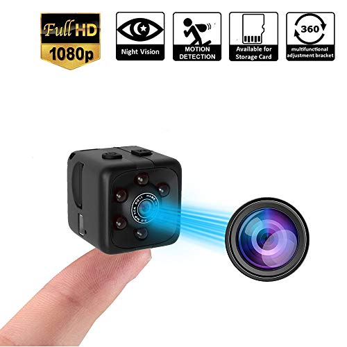 🥇 Mini Spy Camera 1080P Hidden Camera |Indoor Covert Security Camera for Home and Office | Portable Small HD Nanny Cam with Night Vision and Motion Detection | Hidden Spy Cam |Built-in Battery