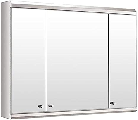 Amazon Com Bathroom Stainless Steel Wall Mirror Cabinet Multipurpose Storage Organizer Medicine Cabinet Space Saver With 3 Doors Kitchen Cupboard 800x550x130mm Home Kitchen