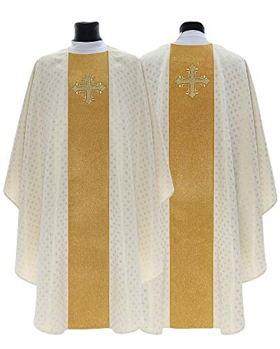 Cream Gothic Chasuble Vestment G754-K61 - Chasuble Brocade