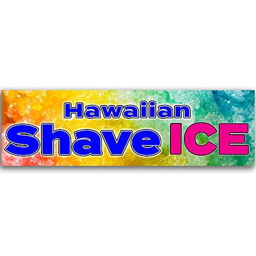 - Hawaiian Shave Ice Vinyl Banner 10 Feet Wide by 3 Feet Tall