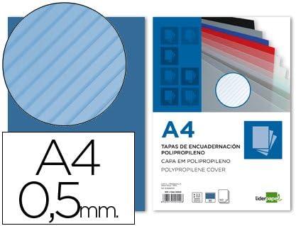 Liderpapel - Te18 Pack De 100 Tapas De Encuadernación, A4, 0.5 Mm: Amazon.es: Oficina y papelería