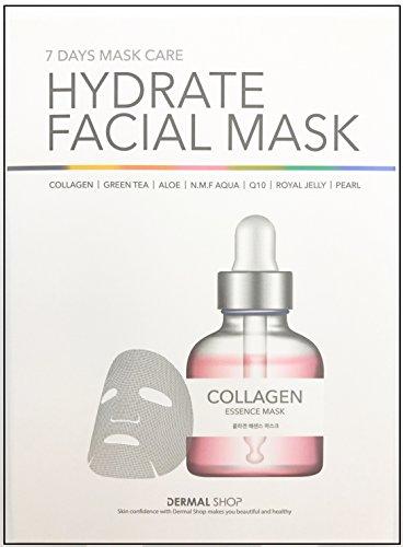 Dermal Korea Collagen Essence Full Face 7 Day Mask Care Hydr