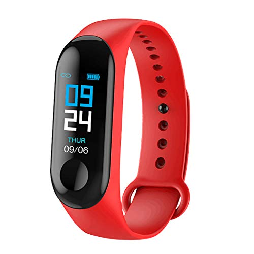 Fitness Tracker HR, Activity Tracker Watch with Heart Rate Monitor, Waterproof Smart Fitness Band with Step Counter, Calorie Counter, Pedometer Watch for Kids Women and Men (Red) (Red Alert 3 Xbox 360)