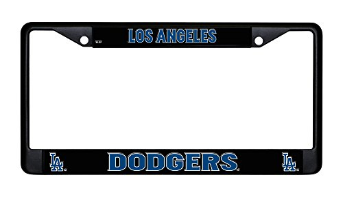 [Los Angeles Dodgers Chrome License Plate Frame] (Name License Plate Frame)