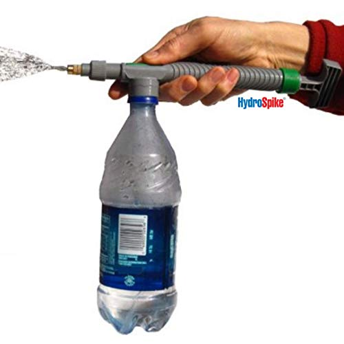 HydroSpike Super Handy Sprayer Kit - Outdoor Pressure Sprayer with Full Range Spray Gun Nozzle Pump and Jet Mister. Use Plastic Bottle with Water for Garden Plant Watering, Cleaning for Pet Dog or Car (Best Use Of Plastic Bottles)