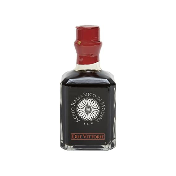 Due Vittorie Argento Silver Balsamic Vinegar from Italy, 8.45fl oz / 250ml 1  The natural fermentation and the slow ageing of grape must from Emilia Romagna, masterly blended with wine vinegars, give rise to Due Vittorie Argento Balsamic Vinegar of Modena  It stands out for its classic flavour and its vaporous and moderately tart aroma.  A classic taste and a balanced ratio between bitter and sweet, for a balsamic vinegar that blends readily with a simple salad or a refined gourmet recipe.
