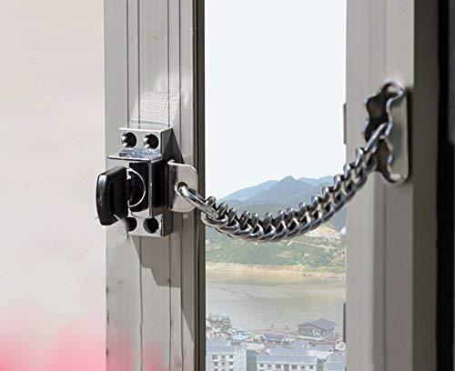 Cerradura de ventana de cadena / Ventana de acero Herraje de cadena, Protección de las puertas y ventanas de la familia,...