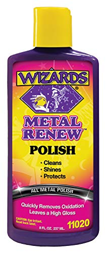 Wizards Metal Renew_Silver Polish, Aluminum Car Care, Motorcycle Copper Cleaner 8oz