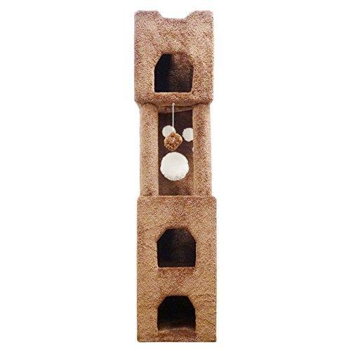 New Cat Condos Premier 6' Cat Tower, Beige