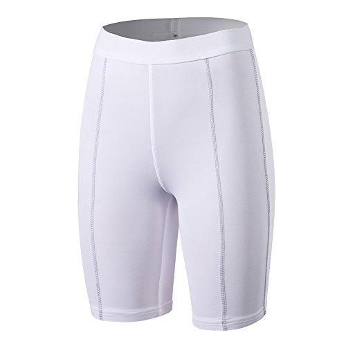 Pantaloncini Donna Jogging Yoga Fitness Funzione Bianco Dry Quick per con Fw7pFq