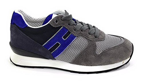 HOGAN Rebel Bambino HXC2610Q900FUW Grey Sneaker Primavera/Estate