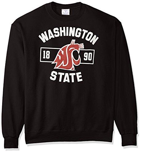 NCAA Washington State Cougars Men's Power Blend Fleece Crew Neck Sweatshirt, Large, Black Ncaa Washington State Cougars Basketball