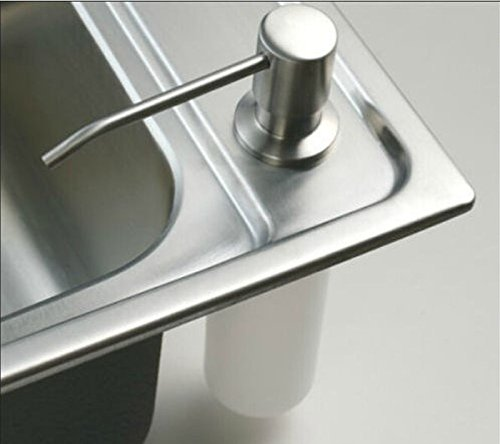 New Deck Mount Brushed Nickel Soap Dispenser Kitchen Sink Liquid Soap Dispenser Bottle Promotion