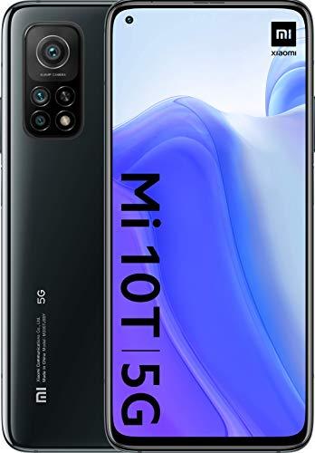Xiaomi Mi 10T (Pantalla 6.67″ Fhd+ Dotdisplay, 6Gb+128Gb, Cámara de 64Mp, Snapdragon 865 5G, 5.000Mah Comcarga 33W) Negro Cósmico [Versión Española], Comalexa Hands-Free