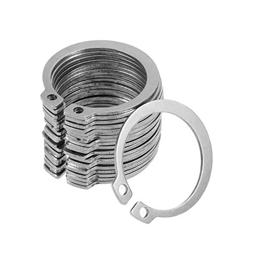 uxcell 39mm External Circlips C-Clip Retaining Snap Rings 304 Stainless Steel 20pcs ()