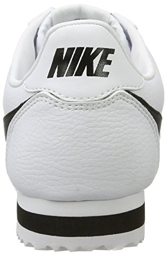 Nike Herre Cortez Læder Afslappet Sko Hvid / Sort vuSdZTIt