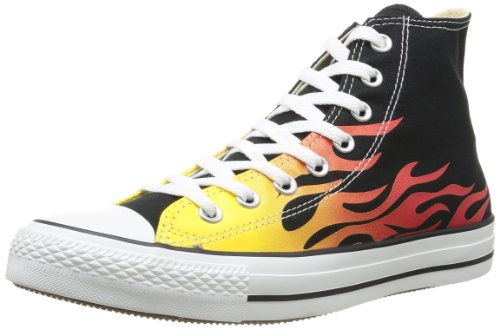 027 Converse Taylor Star Adulte Multicolore Chuck All Graphic flame Graphics Mixte Hi Canvas pwUH6pqB