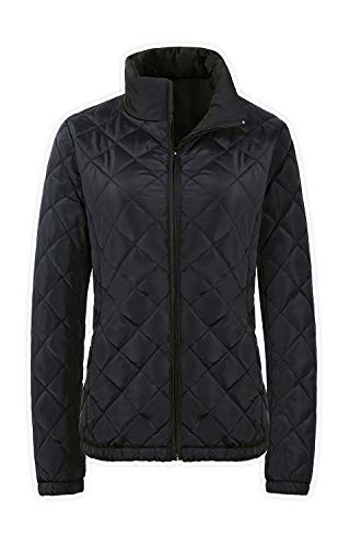 Twinklady Women's Quilted Lightweight Jackets Diamond Puffer Coat with Pockets (Black, S)