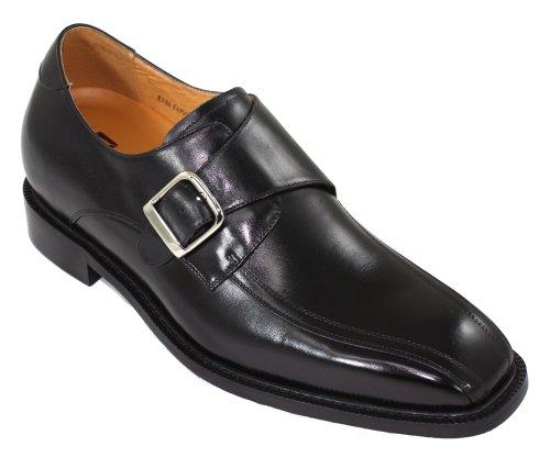 Toto-F6709-7,6cm Grande Taille-Hauteur Augmenter Chaussures ascenseur robe Chaussures (Noir)