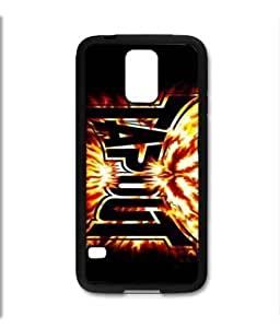 Samsung Galaxy S5 SV Black Rubber Silicone Case - Tapout Flames ufc mma fighting tapout
