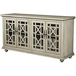 "Martin Svensson Home 91004 Marche 63"" TV Stand, Antique Silver"