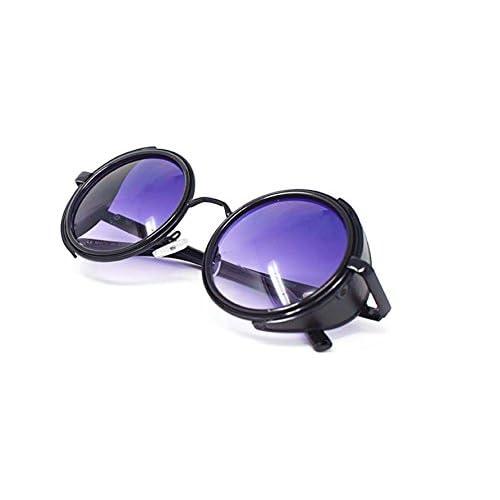 21de06be98 De bajo costo Gafas de sol ultra Steampunk 50s redondo gafas con protección  UV400 en oro