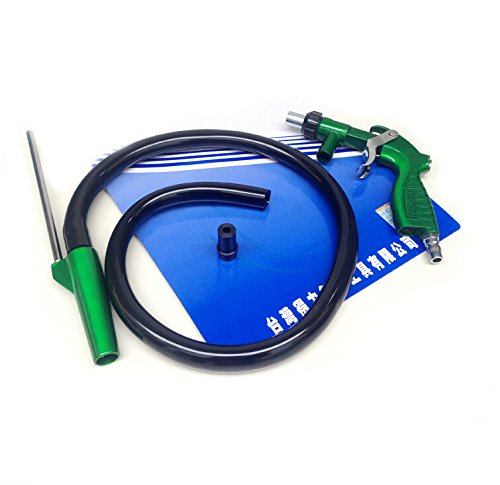 PS-2 Heavy Duty Sandblaster Sand Blasting Gun Kit with 4 Ceramic Nozzle Tips 5mm and 6 mm by Preamer