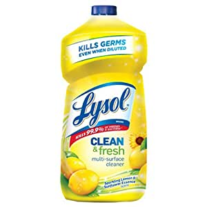 Lysol Clean & Fresh Multi-Surface Cleaner, Sparkling Lemon and Sunflower Essence, 40 oz