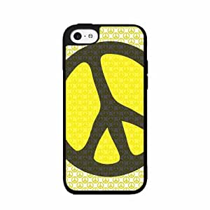 Hippie Peace on Hippie Sign TPU RUBBER SILICONE Phone Case Back Cover iPhone 5c