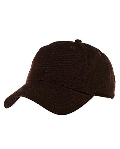 NYFASHION101 Unisex Adjustable 6-Panel Low-Profile Baseball Cap LOW100- Brown](Womens Brown Baseball Caps)