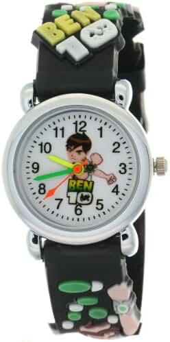 TimerMall Fashion Round Dial Case Black Strap Japan Quartz Cartoon Watches Stylish BEN 10 Doll