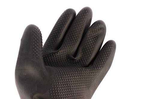 60CM Latex Industrial Gloves Lengthened Acid Wear Thick Long Rubber Gloves by Fastrider (Image #6)