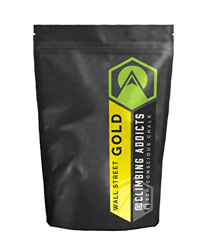 Climbing Addicts Eco Conscious Climbing Chalk (Wall Street Gold) ()