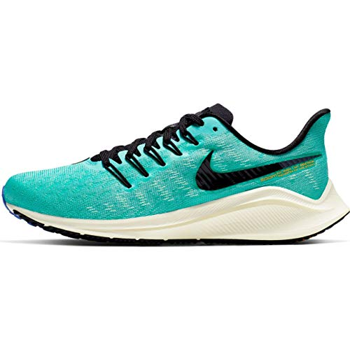 - Nike Air Zoom Vomero 14 Women's Running Shoe Hyper Jade/Black-SAIL-Sapphire 10.0