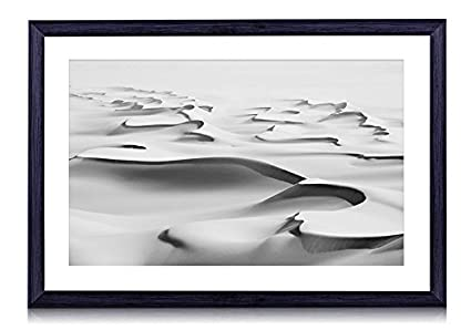 81f8fb71931 Amazon.com  Sahara Desert - Art Print Black Wood Framed Wall Art ...