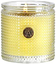 Aromatique Sorbet Textured Glass 6 oz Scented Jar Candle with Medal Medallion for Home Décor and Gift