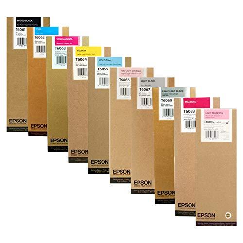EPSON EPSON Stylus PRO 4880 HI Yield Ink (220 ml) Cartridge Set (Photo Black Cyan Vivid Magenta Yellow Light Cyan Vivid Light Magenta Light Black Light Light Black Magenta) ()