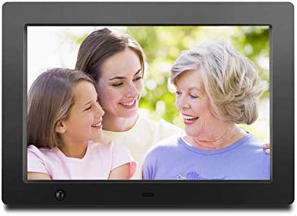 Digital Picture Frame 10.1 inch – Slideshow Electronic Photo Display with Motion Sensor and Auto-Rotation 180 HD IPS Background Music Calendar Remote Control by FLYAMAPIRIT