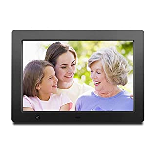 Digital Photo Frame 10 inch with Slideshow Electronic Photo Frame with HD IPS Display Picture Frame with Motion Sensor/Video/Background Music/Calendar/Clock/Auto-Rotate/Best Gifts by FLYAMAPIRIT