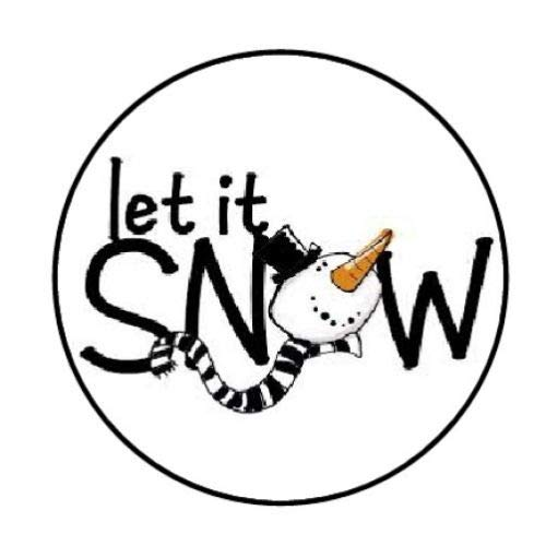 Sticker 48 LET IT Snow Christmas Snowman FACE Envelope Seals Labels, 1.2