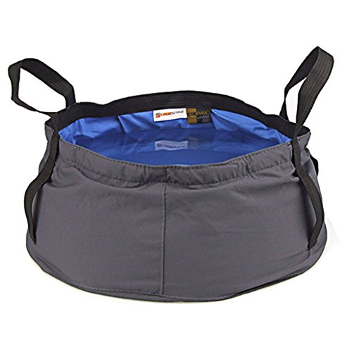 Lowpricenice Outdoor Camping Hiking Folding Wash basin Bucket Travel Bag