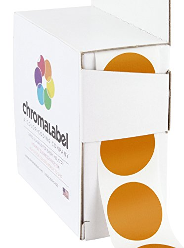 ChromaLabel 1 inch Color-Code Dot Labels | 1,000/Dispenser Box (Copper) -