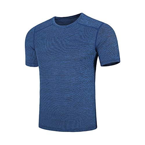 Men's Summer Casual O-Neck T-Shirt Fast-Dry Breathable Top Fitness Sport Blouse Outdoor Beach Shirt