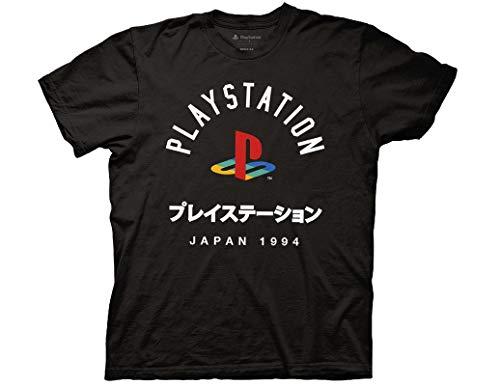 Ripple Junction Playstation Adult Unisex Japan 1994 Light Weight 100% Cotton Crew T-Shirt MD Black