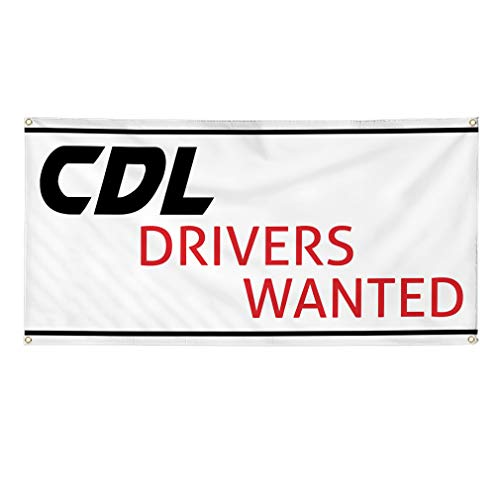 - Vinyl Banner Sign Cdl Drivers Wanted Auto Car Vehicle Style T Marketing Advertising - 24inx60in (Multiple Sizes Available), 4 Grommets, Set of 5