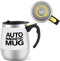 VBESTLIFE Taza de café automezclable de acero inoxidable eléctrico, tazas de taza perezosa Taza de café con toque magnético como regalo para viajes, ...