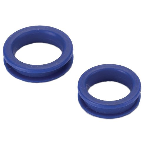 Heritage Rubber Thumb Rings for Grooming Shears, Blue