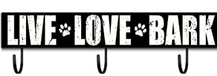 amazon com sixtrees live love bark sign with hooks home kitchen